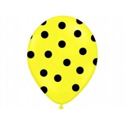 """Balon 14"""" Pastel Yellow """"Kropki"""", 1 szt."""