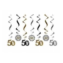 Świderki na 50 urodziny, 7szt.