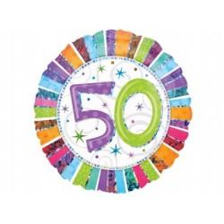 """Balon foliowy 18"""" na 50-te urodziny"""