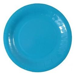 Talerzyki papierowe niebieskie, 6 szt.