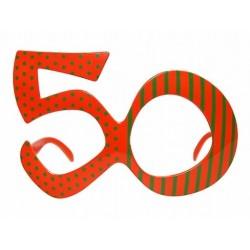 Okulary na 50 urodziny, pomarańczowe