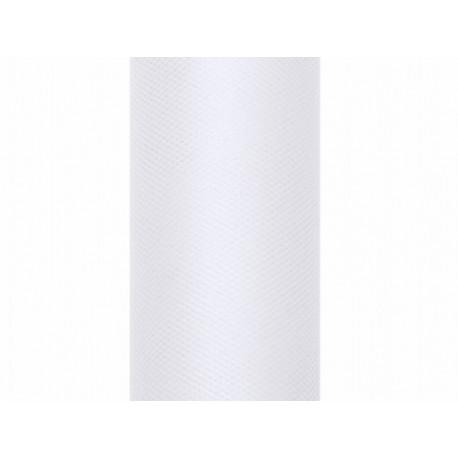 Tiul na szpulce, 30x9 biały,