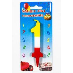 """Świeczka urodzinowa """"1"""""""