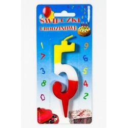 """Świeczka urodzinowa """"5"""""""