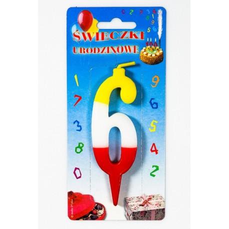 """Świeczka urodzinowa """"6"""""""