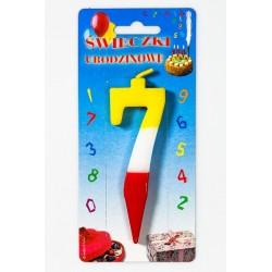 """Świeczka urodzinowa """"7"""""""