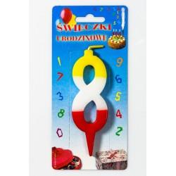 """Świeczka urodzinowa """"8"""""""