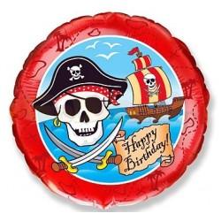 Balon foliowy Pirate Happy Birthday 48cm