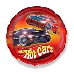 Balon foliowy Hot Cars, okrągły 48cm