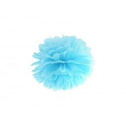 Pompon papierowy błękit, 25cm