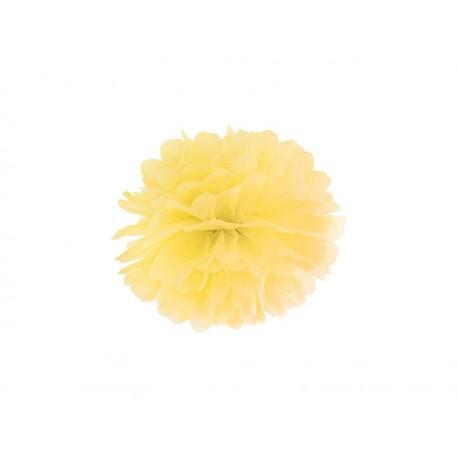 Pompon papierowy żółty, 25cm