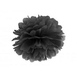 Pompon papierowy czarny, 35cm