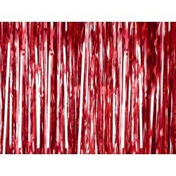 Kurtyna zasłona, lameta czerwona