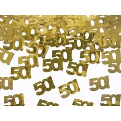 Konfetti metalizowane, liczba 50