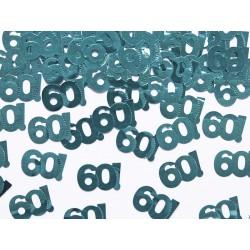Konfetti metalizowane, liczba 60