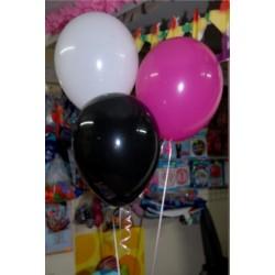 3 balony z helem (na stół)