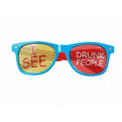 "Okulary""I see drunk poeple"", turkusowy 1szt"