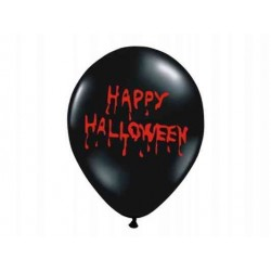 "Balony 14"" Crystal Black ""Happy Halloween"