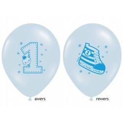 balon na roczek trampek niebieski