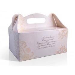 Ozdobne pudełka na ciasto weselne, 10szt
