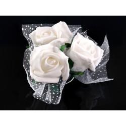 Kwiatki na przyssawkach, kremowy 4szt