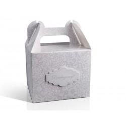 Ozdobne pudełko na ciasto, szare 1szt