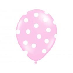 """Balon gumowy 14"""" Pastel róż Kropki"""", 1szt."""