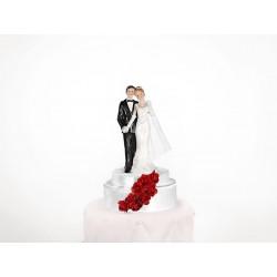 Figurka na tort PARA MŁODA, biały/czarny