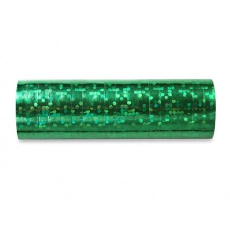 Serpentyna holograficzna, 4m zielona