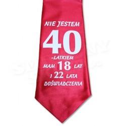 Krawat na 40 urodziny