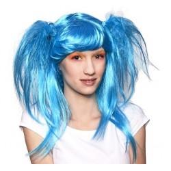 Peruka Japońska lala, błękitna