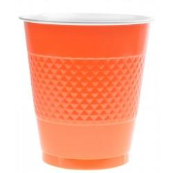 Kubeczki plastikowe pomarańczwe (10szt.)