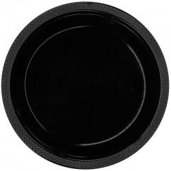 Talerzyki plastikowe czarne 18cm (10szt.)