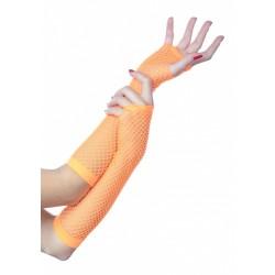 Rękawiczki siateczkowe, neon pomarańcz