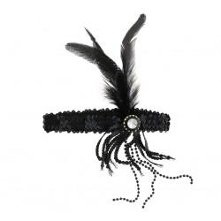 Opaska Retro  Burleska, czarna