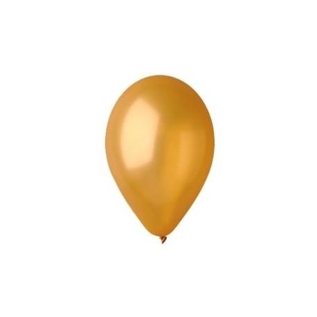 """Balon gumowy 14"""" złoty metalic, 1szt."""
