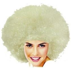 Peruka afro, blond