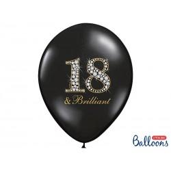 "Balon 14"" na 18 urodziny, Black& Brilliant"