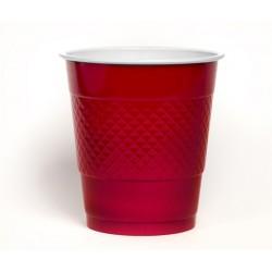 Kubeczki plastikowe, czerwone duże,10szt