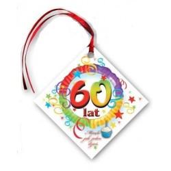 Zawieszka 50 lat, kwadrat 1szt