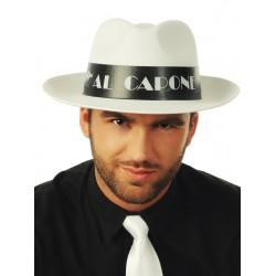 Kapelusz Al Capone, biały