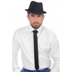 Krawat satynowy czarny
